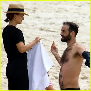 Natalie Portman's Husband Benjamin Millepied Goes Shirtless During Rare Family Outing in Australia