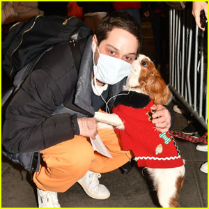 Pete Davidson Gets a Kiss From a Furry Fan After 'SNL'!