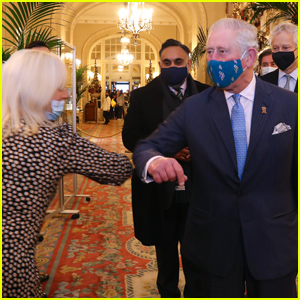 Prince Charles Surprises Party Attendees With Royal Elbow Bumps!