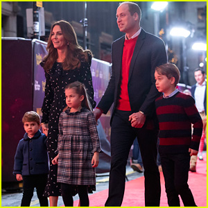 Prince William & Kate Middleton Walk Red Carpet with All 3 Kids for First Time!
