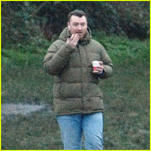 Sam Smith Takes a Phone Call on a Solo Stroll in London