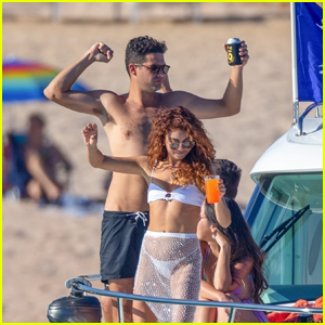 Sarah Hyland Parties in a Bikini on a Yacht With Fiance Wells Adams in Mexico