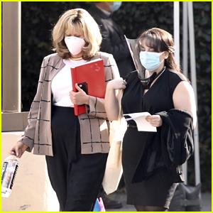 Beanie Feldstein Seen In Costume as Monica Lewinsky on 'Impeachment' Set with Sarah Paulson