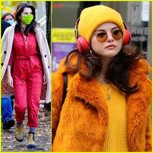 Selena Gomez Rocks Neon Green Face Mask On 'Only Murders' Set in NYC