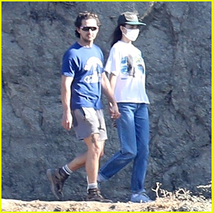 Shia LaBeouf & Margaret Qualley Hold Hands On a Post-Christmas Hike