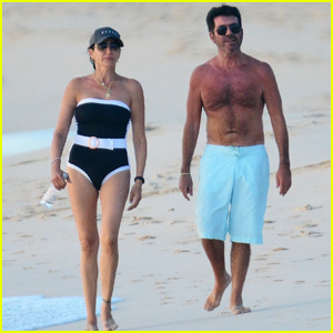 Simon Cowell Is All Smiles Shirtless at the Beach After Electric Bike Accident