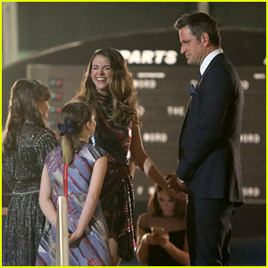 Sutton Foster & Peter Hermann Film a 'Younger' Scene at the TWA Hotel