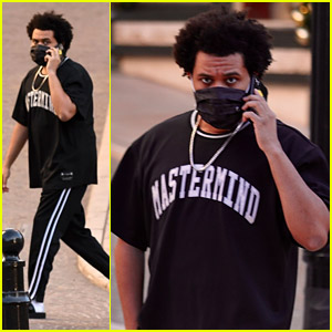 The Weeknd Does Some Shopping on Beverly Hills' Rodeo Drive