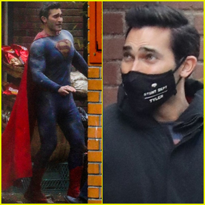 Tyler Hoechlin Debuts New Superman Suit on Set of 'Superman & Lois' in Vancouver!