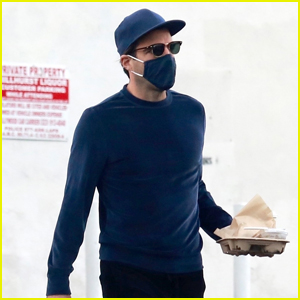 Zachary Quinto Keeps Things Cool in Blue While Picking Up Breakfast