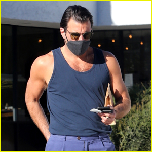 Zachary Quinto Looks Fit in Tank Shirt While Out & About