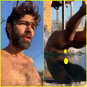 Adrian Grenier Dives In His Freezing Cold Pool Wearing No Clothing
