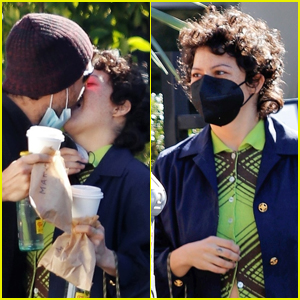 Alia Shawkat Gets Very Passionate Kiss From Mystery Man!