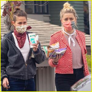 Amber Heard & Girlfriend Bianca Butti Meet Up with a Friend for Lunch