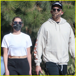 Ashley Benson & G-Eazy Mask Up for Afternoon Hike