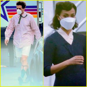 Christian Bale Wears Boxer Shorts on Set of New Movie with Zoe Saldana