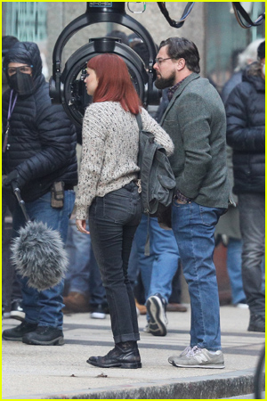 Jennifer Lawrence and Leonardo DiCaprio film scenes for their new movie