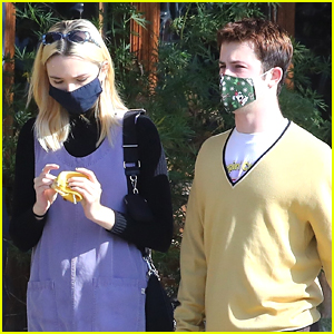 Dylan Minnette Steps Out For Lunch With Girlfriend Lydia Night