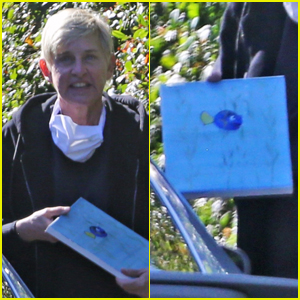 Ellen DeGeneres Purchases Dory Painting While Out Shopping!