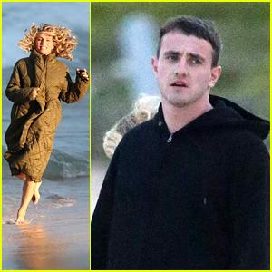 Elsa Pataky & Paul Mescal Film Scenes On The Beach For 'Carmen'