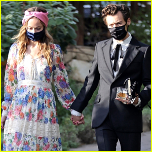 Harry Styles & Olivia Wilde Hold Hands at Jeffrey Azoff's Wedding - See All Photos!