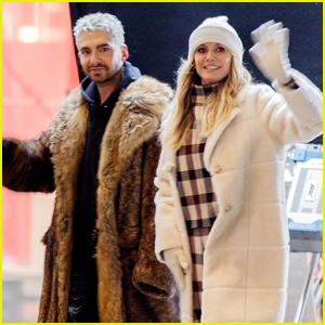 Heidi Klum is Joined by Brother-in-Law Bill Kaulitz on Set of 'Germany's Next Top Model'
