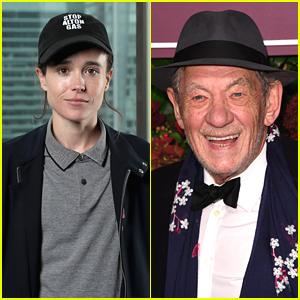 Ian McKellen Recalls Elliot Page Being Soft Spoken on 'X-Men' Set Before Coming Out As Transgender