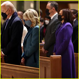 President Elect Joe Biden & Vice President Elect Kamala Harris Attend Church on Inauguration Day Morning