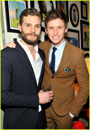 Jamie Dornan and Eddie Redmayne reunite at a W Magazine party in 2015
