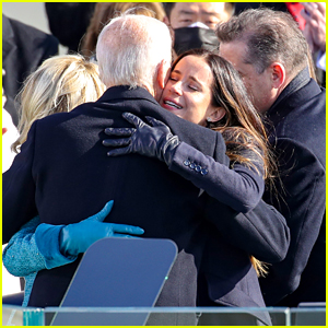 President Joe Biden's Kids Ashley & Hunter Hug Him After Swearing In