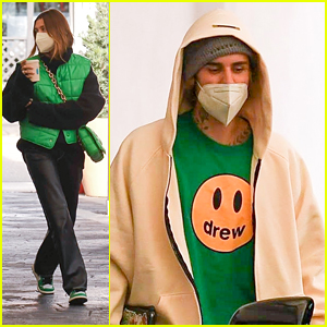 Justin & Hailey Bieber Match In Green For Joint Appointment in LA