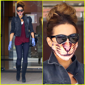 Kate Beckinsale Wears Adorable Cat Mask While Running Errands