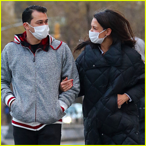 Katie Holmes Has A Pep In Her Step While Walking With Boyfriend Emilio Vitolo