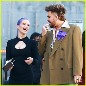 Adam Lambert & Kelly Osbourne Spotted On Set While Filming New TV Pilot!