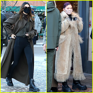 Kendall & Kylie Jenner Do Some New Year's Day Shopping in Aspen