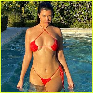 Kourtney Kardashian Bares Incredible Body in Barely-There Bikini, Photos Taken By Kylie Jenner!