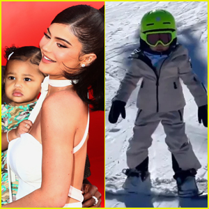 Kylie Jenner Shares Adorable Video of 'Little Pro' Stormi Snowboarding in Aspen - Watch!