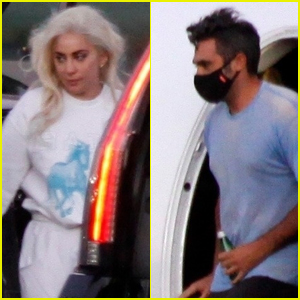 Lady Gaga & Boyfriend Michael Polansky Jet Home to Beverly Hills After Her Inauguration Performance