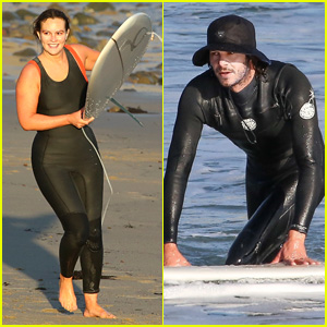 Leighton Meester & Adam Brody Go On a Surfing Date in Malibu