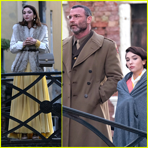 Liev Schreiber & Matilda De Angelis Take In The Sights of Venice While Filming New Movie