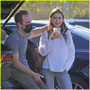 Lily Collins & Charlie McDowell Get in Some Early Morning Errands