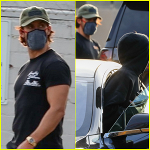 Milo Ventimiglia Accidentally Blocks Zoey Deutch's Car in Gym Parking Lot