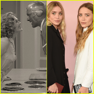 Elizabeth Olsen Reacts to Jimmy Kimmel's Olsen Twins/'WandaVision' Theory!