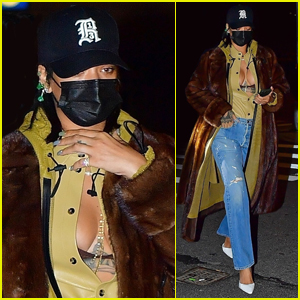 Rihanna Bares Major Cleavage While Heading to Dinner in NYC
