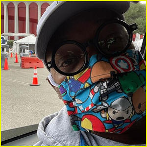 Samuel L. Jackson Wears Avengers Face Mask While Getting COVID-19 Vaccination