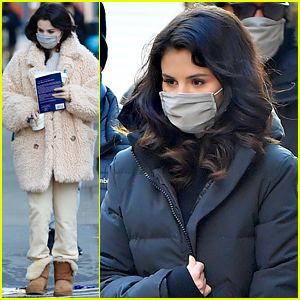 Selena Gomez Brings A Book To Work on 'Only Murders In The Building' Set