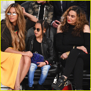Beyonce's Mom Tina Lawson Gets Her Makeup Done by Granddaughter Blue Ivy!