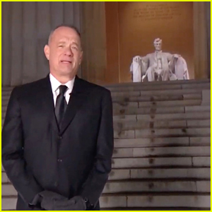 Tom Hanks Stands Near Distant Cousin Abraham Lincoln's Memorial During 'Celebrating America' Event