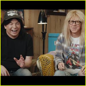 Mike Myers & Dana Carvey Reunite for 'Wayne's World' Uber Eats Super Bowl Ad!