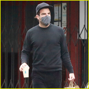 Zachary Quinto Sports All Black While Grabbing Lunch to Go